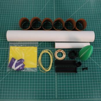 Toobish XL model rocket kit contents