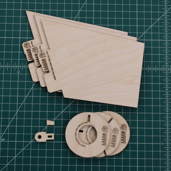 Rocketry Works plywood Der Big Red Max upgrade set, including 2 or 3 centering ring options.