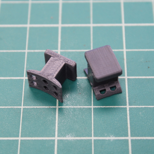 3D Printed Stand-off 1010 Launch Rail Guides: BT-70 to BT-80 (1 pair)