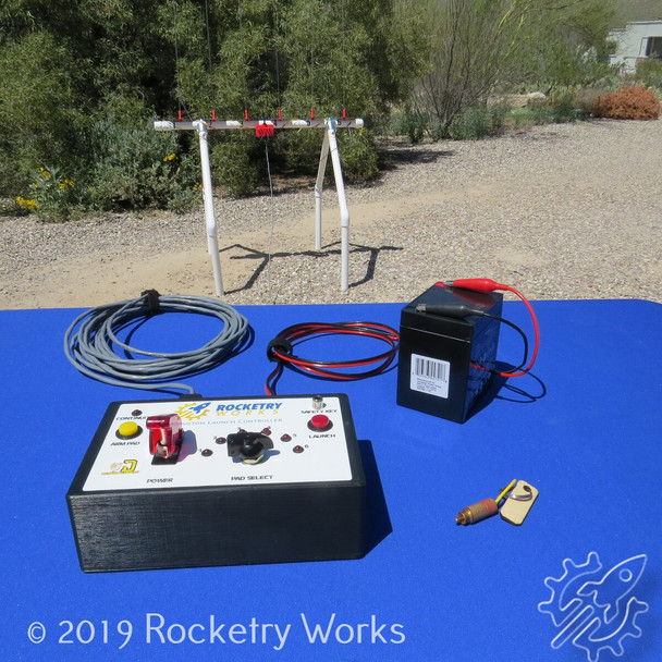 The Houston Launch Controller is intended to be used with the Rocketry Works Cape Canaveral Launch Pad (sold separately)