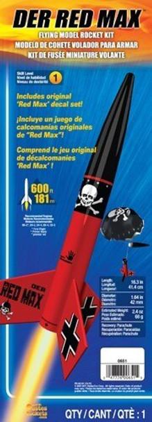 Packaging for Der Red Max model rocket