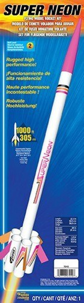 Estes Super Neon Model Rocket Set Skill Level 2  EST7242