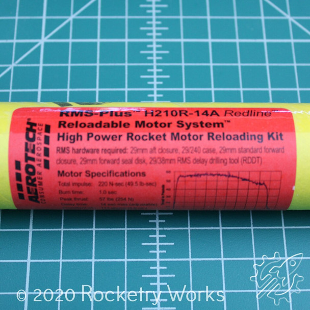 H210R-14A High Power and High Power Style Reloadable Motor