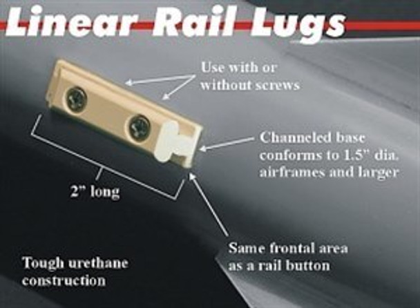 PML Conformal Rail Guides for 1.5 inch tubes and larger