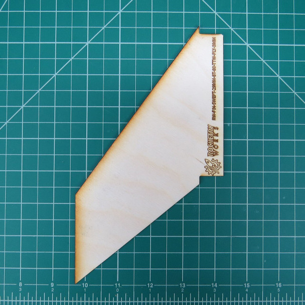 Plywood through the wall fin for 24mm motor tube in BT-80 body tube