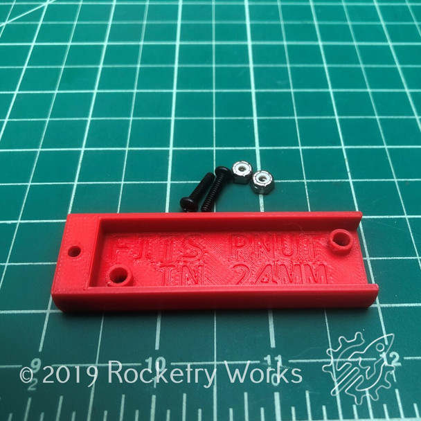 Package contents: one 3D printed altimeter sled and 2 nuts and bolts to secure your altimeter.