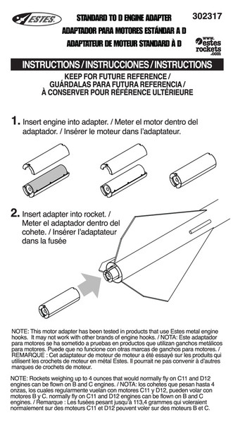 18mm - 24mm Adapter Instructions