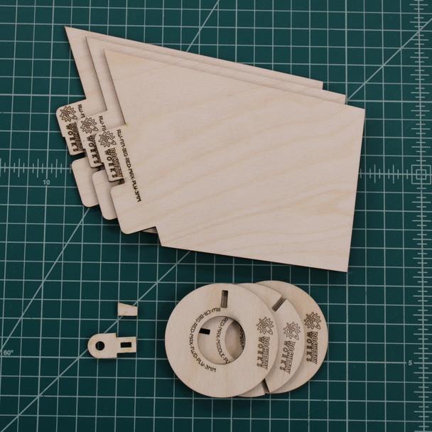 Rocketry Works plywood Der Big Red Max upgrade set, including 2 or 3 centering ring options.