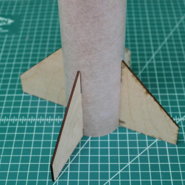Assembled fin can unit in stock Doorknob tube.