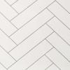 Chevron Tile White Premium Wet Wall Panel - 1 Metre