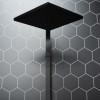 Fibo Hexagonal Brick Black Silk Wall Panel