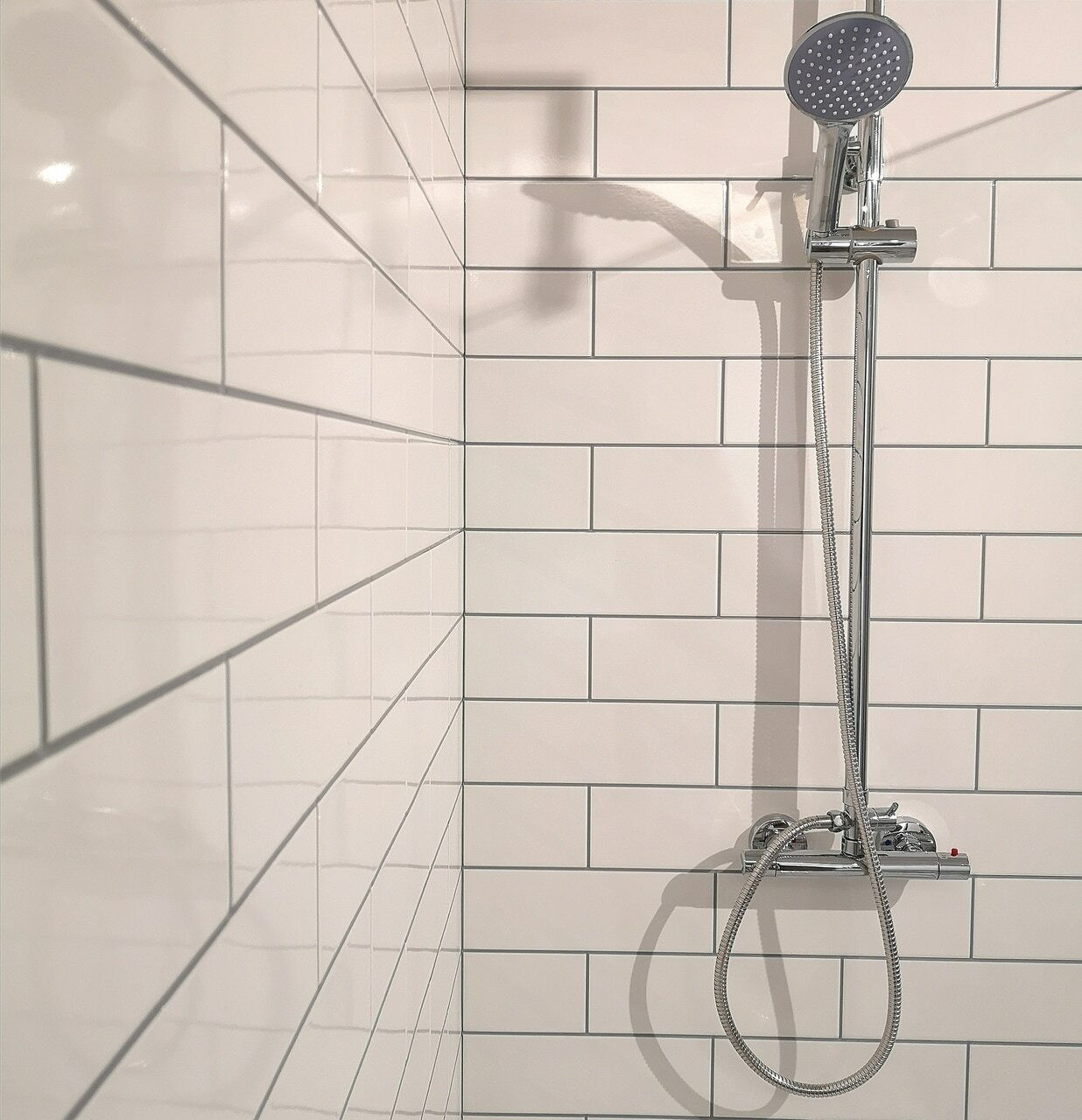 Subway White Tile Effect Panel   Wet Wall Works