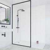 White Small Gloss Embossed Tile Effect Multipanel