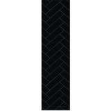 Fibo Herringbone Black Silk Wall Panel