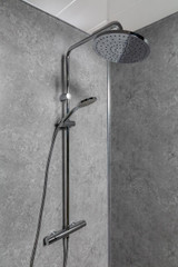 Fossil Grey Wet Wall Panel - 1M, Shower Unit