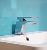 Aqua Gemstone Wet Wall Panel - 1M, with sink