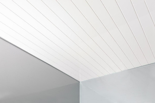 Double Groove White Panel - Sample