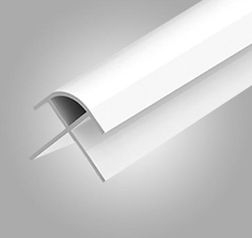 PVC Panel Bullnose External Trim - Multiple Colours