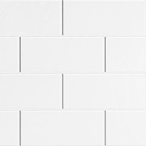 Metro Tile Effect Multipanel White - Landscape