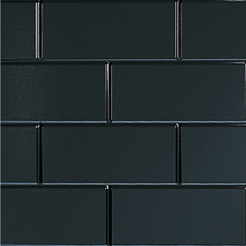 Metro Tile Effect Multipanel Black - Landscape