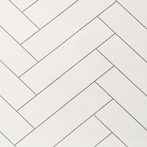 Chevron Tile White Premium Wet Wall Panel - 1 Metre