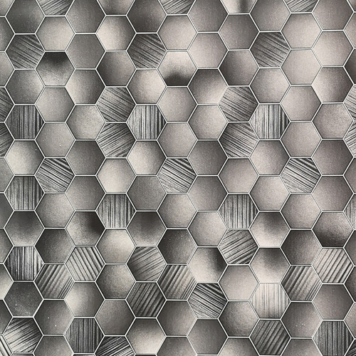 Hexagonal Tile Grey Premium Wet Wall Panel - 1 Metre