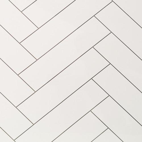 Chevron Tile White Premium Wet Wall Panel - Sample