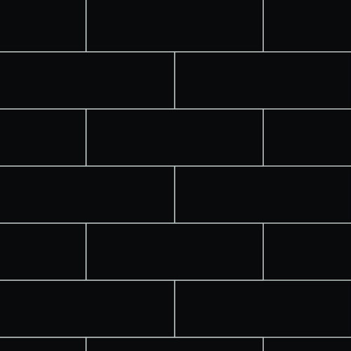 Fibo Metro Brick Black Silk Wall Panel