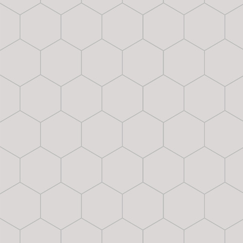 Fibo Hexagonal White Silk Wall Panel