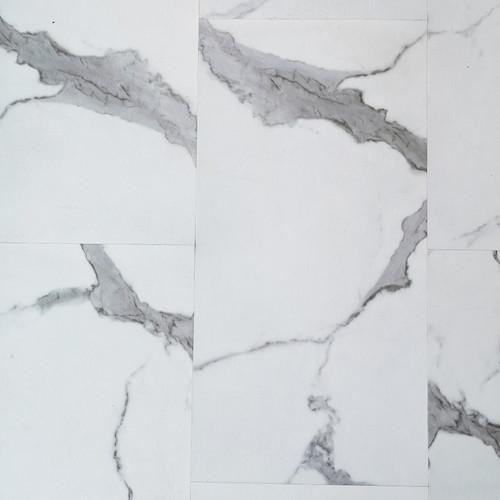 Calacatta White Stone Luxury Vinyl Tile Flooring