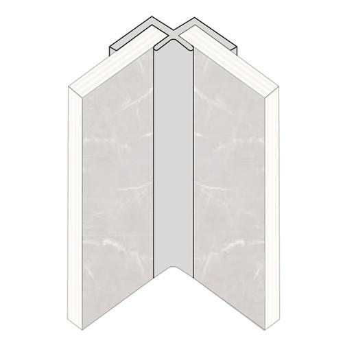 Fibo Internal Corner Aluminium Trim