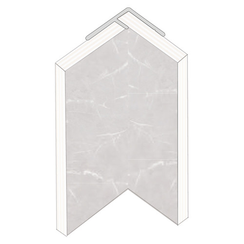 Fibo Hidden Internal Corner Aluminium Trim