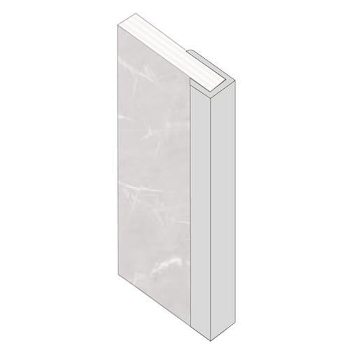 Fibo J Shape End Cap Aluminium Trim