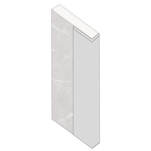 Fibo L Shape End Cap Aluminium Trim