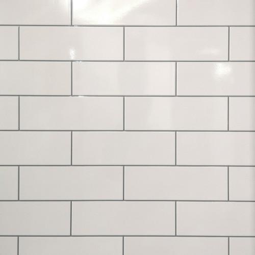 Subway Tile effect tile wet wall