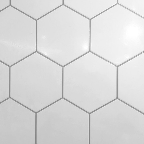 Hexagonal White Wall Panel - 1.2 Metre