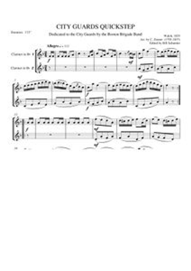 CITY GUARDS QUICKSTEP (clarinet duet)