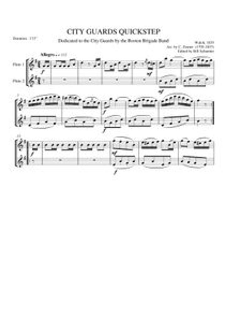 CITY GUARDS QUICKSTEP (flute duet)