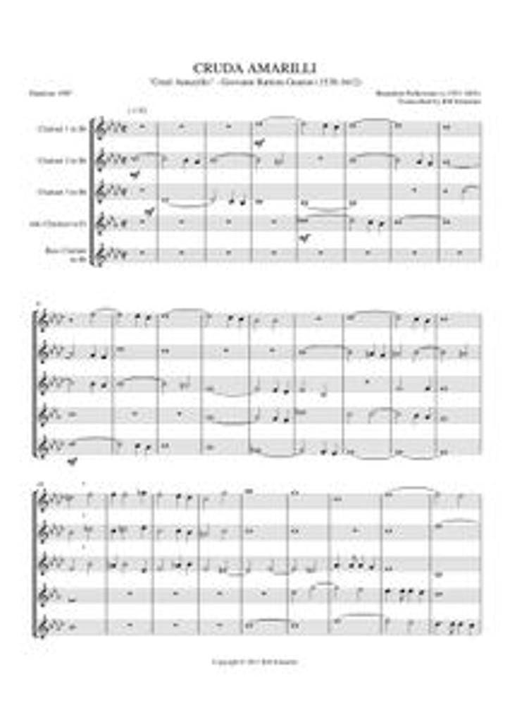 """CRUDA AMARILLI (""""CRUEL AMARYLLIS"""") (clarinet quintet)"""