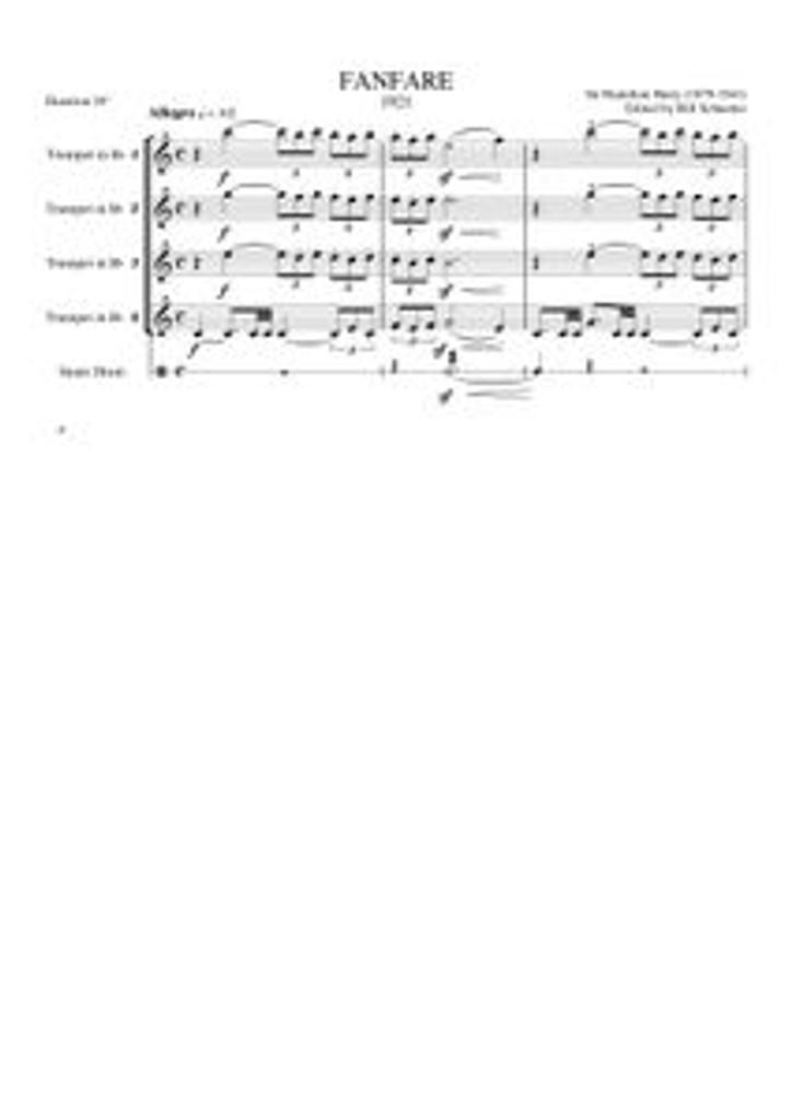 FANFARE (trumpet quartet) (download)
