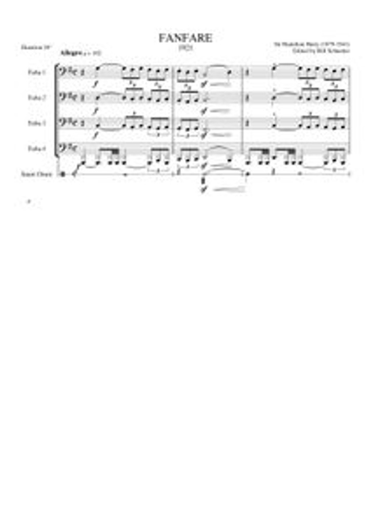 FANFARE (tuba quartet) (download)