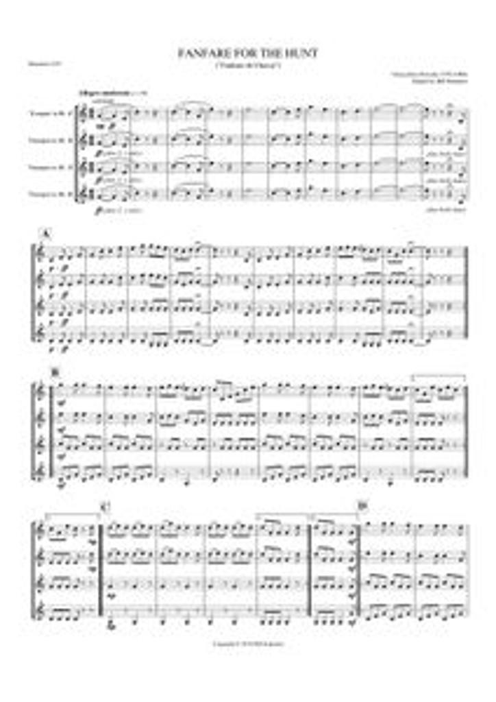 FANFARE FOR THE HUNT (trumpet quartet) (download)