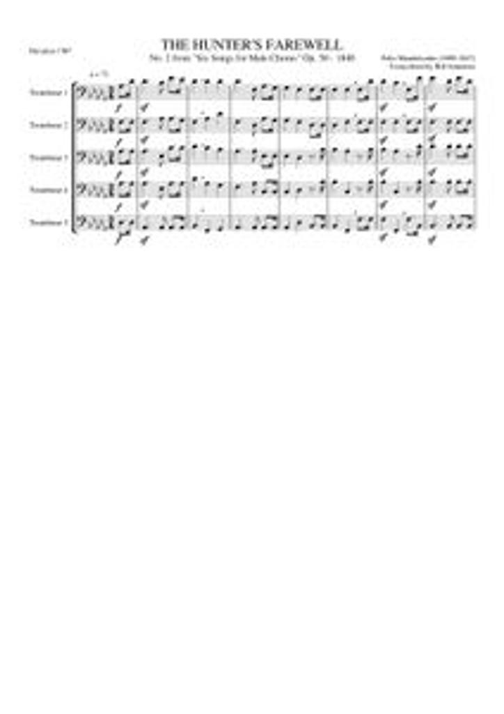 HUNTERS FAREWELL (trombone quintet)