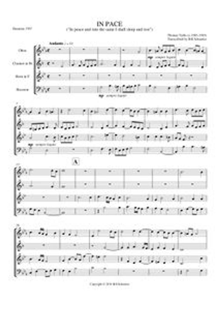 IN PACE (woodwind quartet)