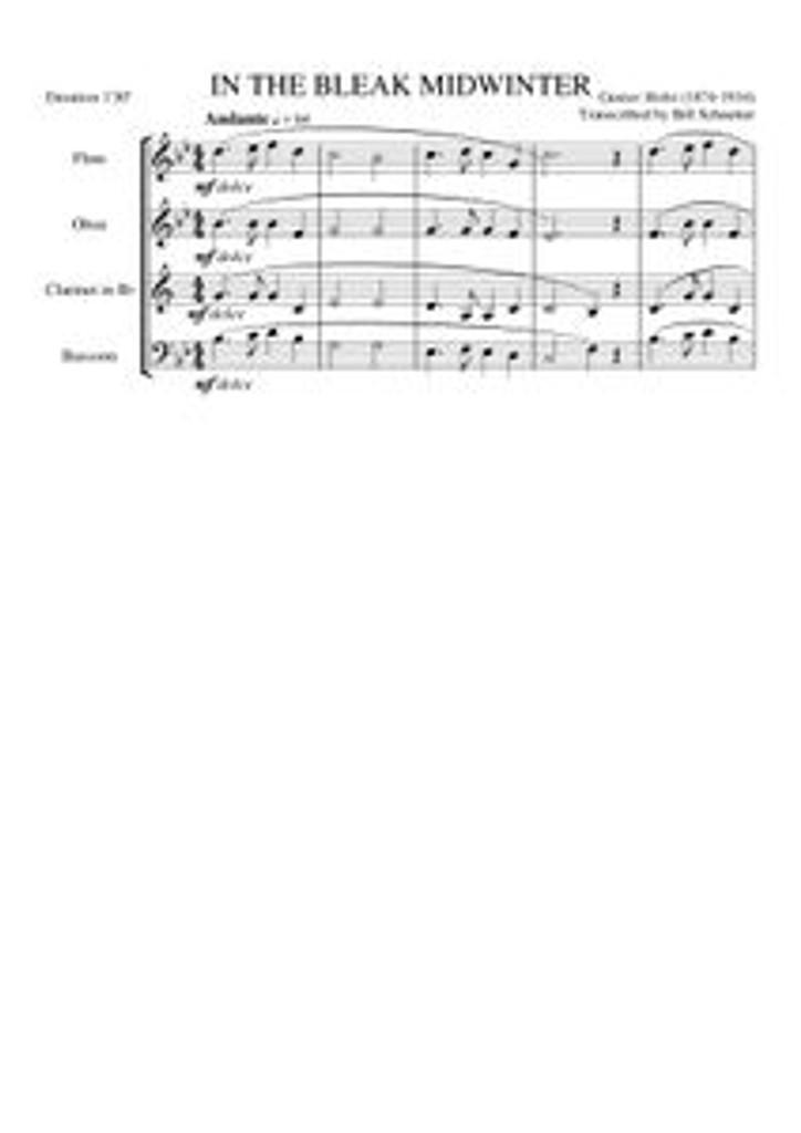 IN THE BLEAK MIDWINTER (woodwind quartet)