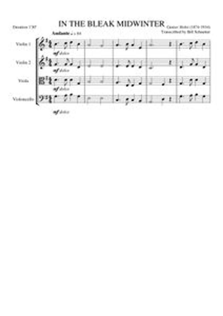 IN THE BLEAK MIDWINTER (string quartet)