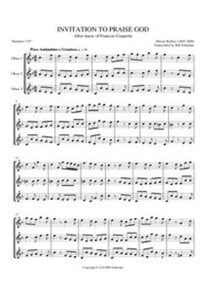 INVITATION TO PRAISE GOD (oboe trio)