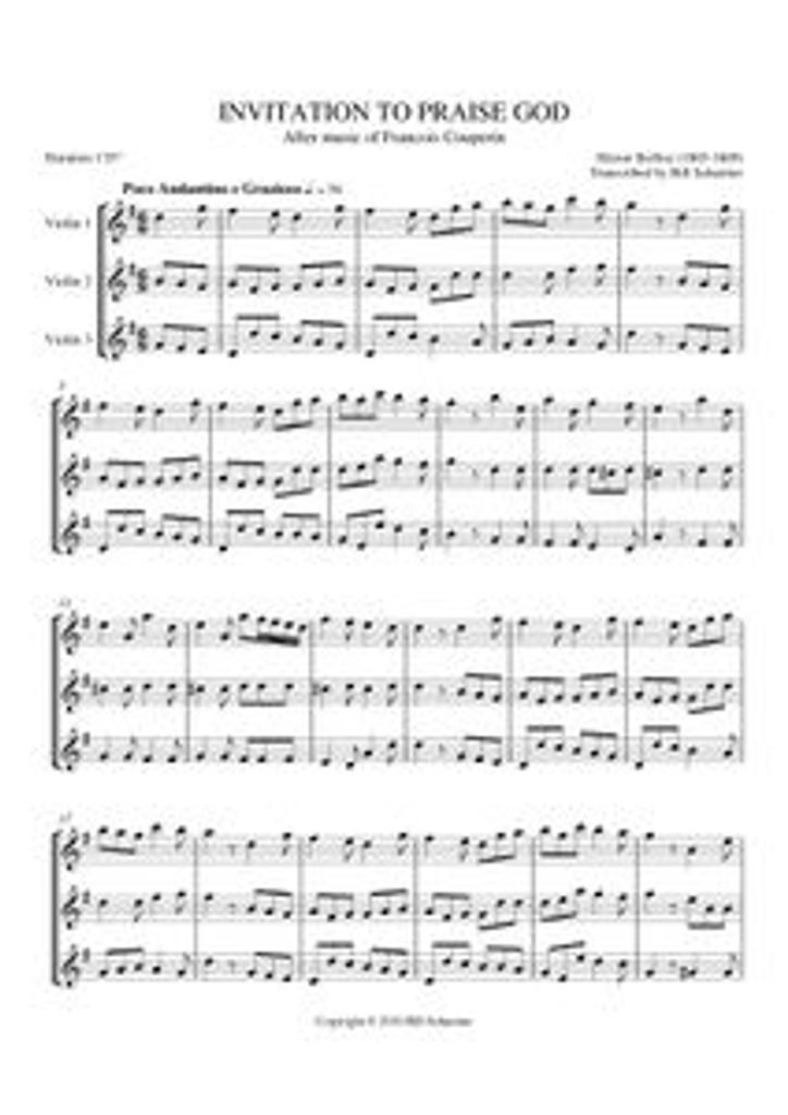 INVITATION TO PRAISE GOD (violin trio)
