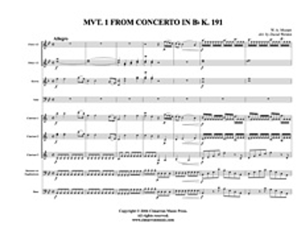 Concerto in Bb, Op. 96 K. 191 (Mvt. 1) (Download)