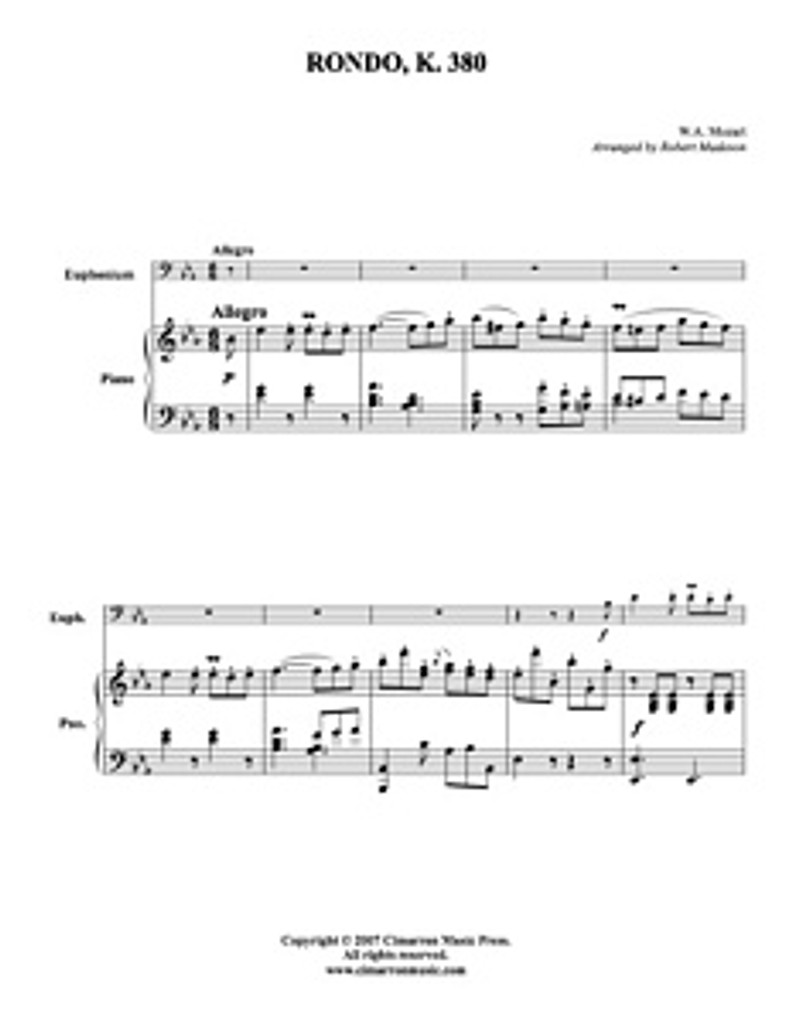 Rondo, K. 380 (Download)